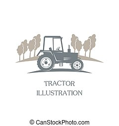 vektor, -, logotype, traktor