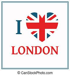 vektor, london, hintergrund