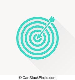 vektor, måltavla, ikon