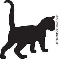 vektor, macska