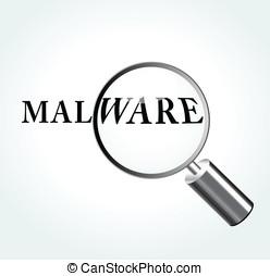 vektor, malware, begriff, abbildung