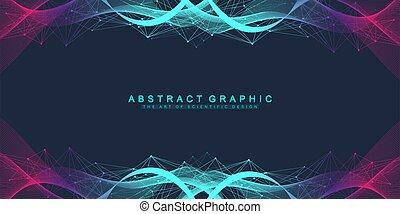vektor, manipulation, hintergrund., concept., molekül, dns, ...
