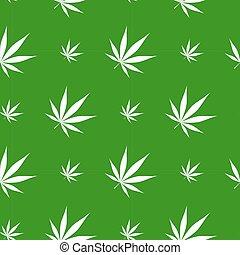 vektor, marijuana, illustration