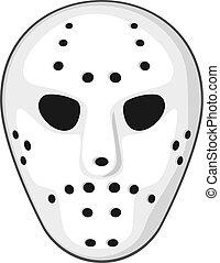 vektor, maskera, hockey, illustration