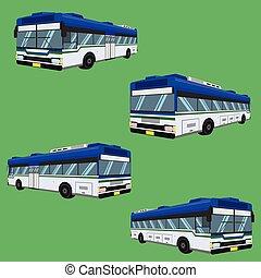 vektor, matratze, treiber, 3d, schiene, omnibus, kissen, bank, sessel, fahrpreis, autobus, polster, hocker, stuhl, hassock, passagier, bus, sitz, abbildung, trainer