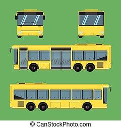 vektor, matratze, treiber, schiene, omnibus, kissen, bank, sessel, fahrpreis, autobus, polster, hocker, stuhl, hassock, passagier, bus, sitz, abbildung, trainer