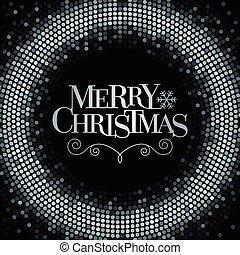 vektor, merry christmas, literatura, s, třpytit se, grafické...