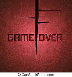vektor, message:, játék, felett