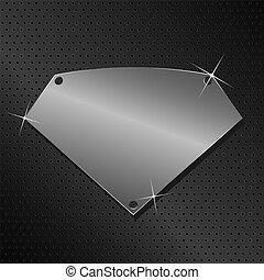 vektor, metall, schutzschirm