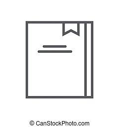 vektor, moderní, prázdný zaměstnání, ikona, oproti neposkvrněný