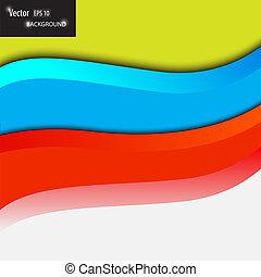 vektor, modern, hintergrund, wellen