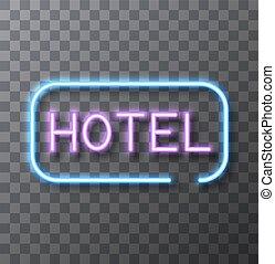 vektor, modern, neon zeichen, auf, durchsichtig, hintergrund