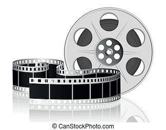 vektor, movie., illustration., film, tvinde