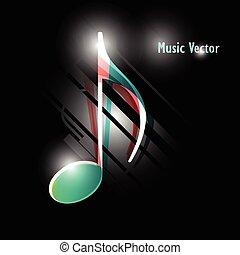 vektor, musik, hintergrund