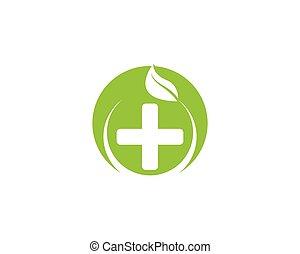 vektor, natur, sundhed, logo