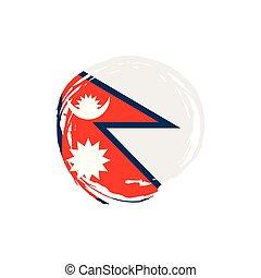 vektor, nepal, abbildung, fahne