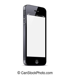 vektor, neposkvrněný, smartphone, osamocený, grafické pozadí