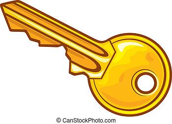 vektor, -, nyckel, illustration