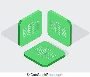 vektor, nymodig, 3, isometric, app, ikonen