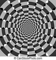 vektor, optický, umění