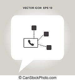 vektor, option att köpa centrera, ikon