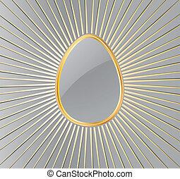 vektor, påske, egg.