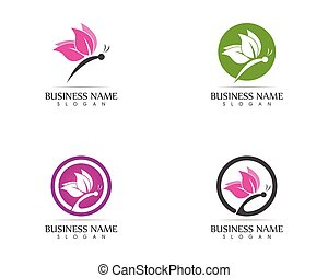 vektor, papillon, abbildung, design, logo
