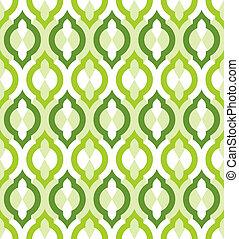 vektor, pattern., seamless, marokkói, style.