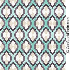 vektor, pattern., seamless, marokkói