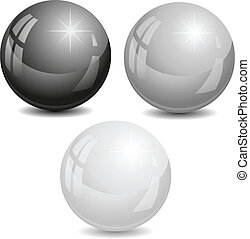 vektor, pearls., illustration