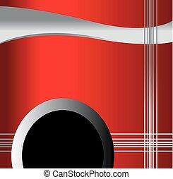 vektor, piros háttér, lenget
