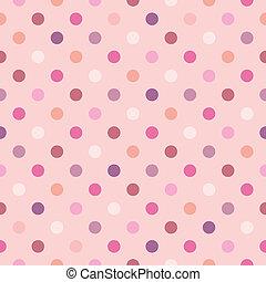 vektor, polka- punkte, rosafarbener hintergrund