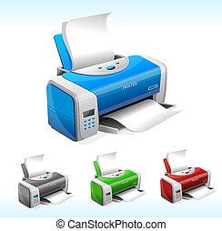vektor, printer