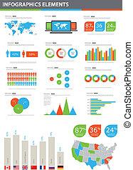 vektor, részletez, infographic