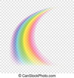 vektor, rainbow., durchsichtig, illustration.