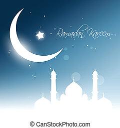 vektor, ramadan, kareem