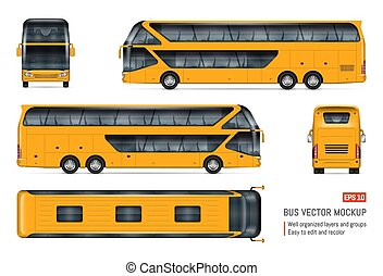 vektor, realistisch, trainerbus