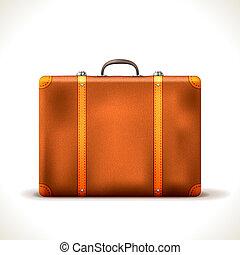 vektor, resväska