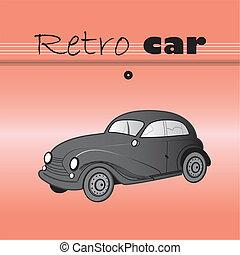 vektor retro car