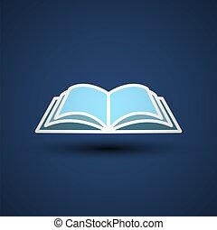 vektor, rgeöffnete, abbildung, book.
