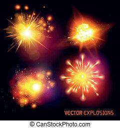 vektor, robbanások