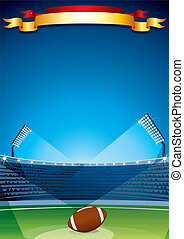 vektor, rugby, stadion