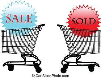 vektor, -, sale-sold, ábra