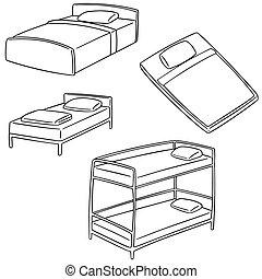 Gezeichnet bild kissen karikatur hand stil image for Bett zeichnung