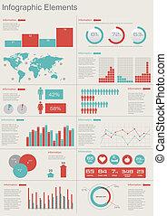 vektor, satz, elemente, infographics