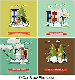 wohnung stil design kinder rodeln jahreszeiten schlitten winter erholung wohnung natur. Black Bedroom Furniture Sets. Home Design Ideas
