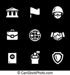 vektor, satz, von, botschaft, icons.