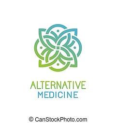 vektor, schablone, medizinprodukt, design, logo, alternative, abstrakt