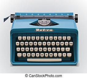 vektor, schreibmaschine, ikone, xxl