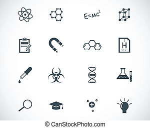vektor, schwarz, satz, wissenschaft, heiligenbilder